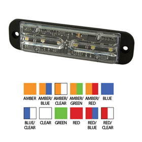 ECCO Directional LED: Surface Mount, 13 Flash Patterns, 12-24VDC