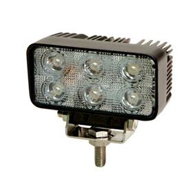 ECCO 6-LED Rectangle Worklamp, Flood Beam, 12-24VDC - EW2411