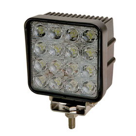 ECCO 16-LED Square Worklamp, Flood Beam, 12-24VDC - EW2421