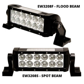 "ECCO 8"" 12-LED Utility Bar, Double Row, 12-24VDC"