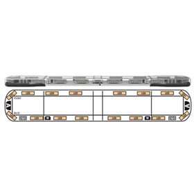 "ECCO Axios 72"" Lightbar, 16 LEDs, 2 Rear,  2 Alley, 2 STI Lights - 14-00004-E"