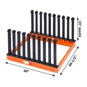 "Equalizer® Burco® 9-Slot Redi Rack™, 15"" Masts - BT1048"