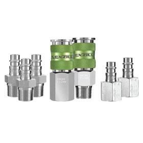 Legacy 7pc Coupler & Plug Kit 3/8 in NPT Steel/Aluminum - A53657FZ