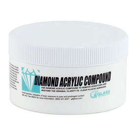 Glass Technology Diamond Clear Acrylic Polishing Compound - 1lb - ARAC-1LB