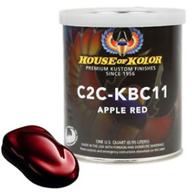 House of Kolor Apple Red Kandy Basecoat Quart - C2C-KBC11Q