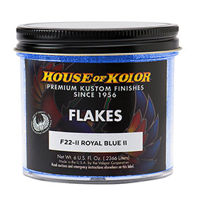 House of Kolor Royal Blue Flake II 6 Oz. - F22II