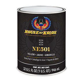 House of Kolor Neon Yellow Car Paint Quart - NE501Q