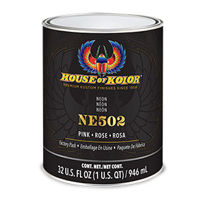 House of Kolor Neon Pink Car Paint Quart - NE502Q