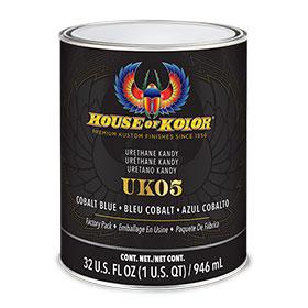 House of Kolor Cobalt Blue Kandy Acrylic Urethane Quart - UK5Q