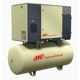 Ingersoll Rand Rotary Screw Air Compressors - 7.5HP, 120-Gallon, Max 125 PSI - UP6-7.5TAS-125