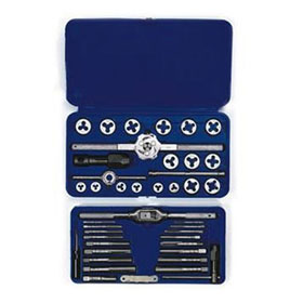 Irwin 41-pc Machine Screw / Fractional Tap & Hex Die Set - 24606