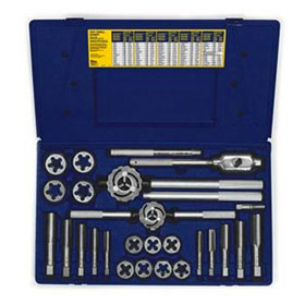 Irwin 25-pc Fractional Tap & Hex Die Set - 97094