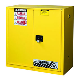 Justrite 40 Gallon Sure-Grip Ex Safety Cabinet For Combustibles - Bi-Fold Self-Close Door