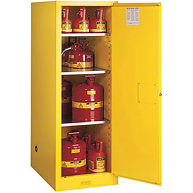 Justrite 54 Gallon Deep Slimline Styled Sure-Grip Ex Safety Cabinet