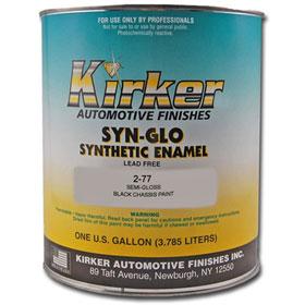 Kirker Syn-Glo Synthetic Enamel Semi-Gloss Black Chassis Paint - 2-77