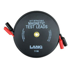Lang Tools Magnetic Retractable Test Leads, 2 Leads x 30' - 1138