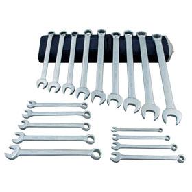 Martin 18 Pc. Combination Wrench Set, Chrome, Metric - C18KM