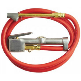 Milton Dual Head Straight Chuck Inflator Gauge with 5' Hose - 501