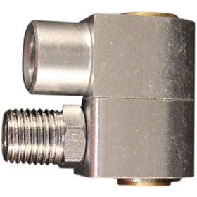 """Milton 1/4"""" NPT Swivel Hose Fitting Connector with Flow Control - S-657"""
