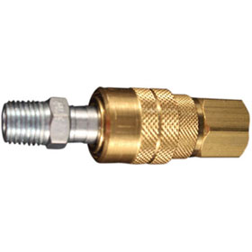"Milton 1/4"" NPT M Style Coupler and Plug - S-711"
