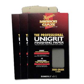 Meguiar's Mirror Glaze® Unigrit Finishing Paper 2000 Grit (25 Sheets) - S2025