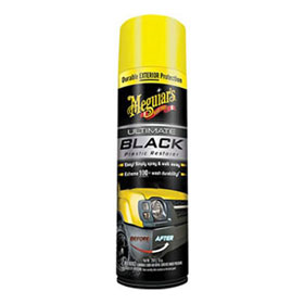 Meguiar's Ultimate Black Plastic Restorer Aerosol, 10 oz. - G16910