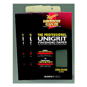 Meguiar's Mirror Glaze® Unigrit® Finishing Paper, 1000 Grit, 25 Sheets - S1025