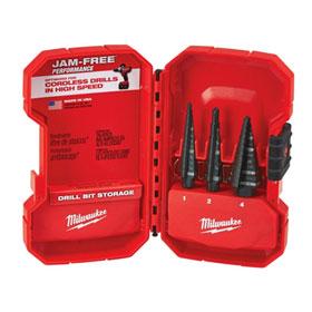 Milwaukee 3 Piece Step Drill Bit Set - 48-89-9221