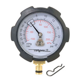 Mityvac Compound Vacuum/Pressure Gauge, PSI/in-Hg - MVA6176