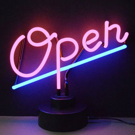 "Neonetics ""Open"" Neon Sculpture - 4OPENX"