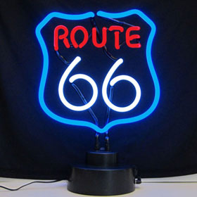 Neonetics Route 66 Neon Sculpture - 4RT66X