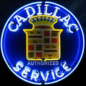 Neonetics Cadillac Service Neon Sign - 5CADSR