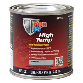 POR-15 High Temp Paint, Manifold Gray, 8 oz. - 44216