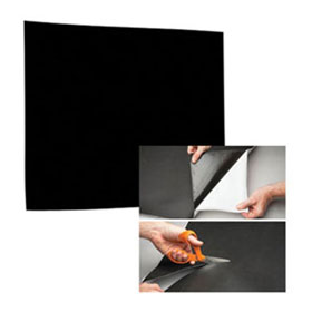 "RBL Products Self-Adhering, 12"" x 12"" Black/Paintable Sound Damping Pad - 128"