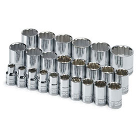 SK Tools 24 Piece 12 Point Standard Metric Socket Set - 1924