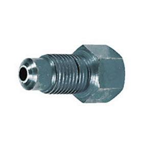 "SUR&R Auto Parts 3/8""-24 Inverted Female to M10 x M1.0 Bubble Male Adapter - BR505"