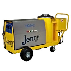 Steam Jenny Oil Fired 1200 PSI at 2.3GPM Pressure Washer/70GPH Steam Cleaner, 110V - 1 Phase - 1223-C-OEP