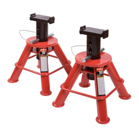Sunex Tools 10 Ton Low Height Pin Type Jack Stands (Pair) - 1210