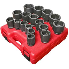 "Sunex Tools 17 Piece 3/4"" Drive Heavy Duty SAE Set - 4683"
