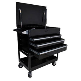Sunex Tools 4 Drawer Locking Top Service Cart (Black) - 8054BK