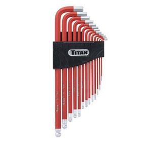 Titan Tools Extra-Long Arm SAE Hex Key Set - 12713