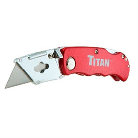 Titan Tools Folding Pocket Utility Knife, Red - 11015