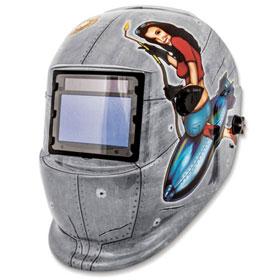 Titan Tools Pinup Girl Solar Powered Auto Dark Welding Helmet - 41288
