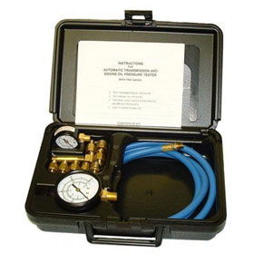 Tool Aid Automatic Transmission & Engine Oil Pressure Tester with 2 Gages in Blow Molded Case - 34580