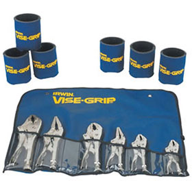 Irwin Vise-Grip 6 Pc Tool Set in Bag with 6 Koozie Cups - VSG-641KB