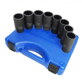 Astro Pneumatic 8 Piece 12 Point Axle Nut Socket Set - 78868