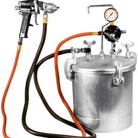 Astro 2-1/4 Gallon Pressure Tank with 1.0mm Nozzle Black Spray Gun & 12ft Hose - PT2-4GH