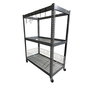 Champ Deluxe 2-Shelf Parts Station with Metal Shelf