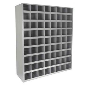 72 Hole Metal Storage Bin, Gray Finish - 80364