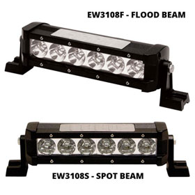 "ECCO 6-LED 8"" Utility Bar, Single Row, 12-24VDC"